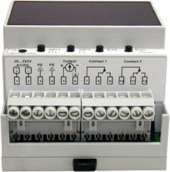 M pH mV controller for DIN rails Mostec d min